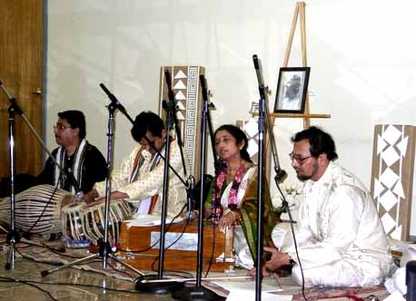 Swapna And Rahul Ray Perform At The New England Hindu Temple