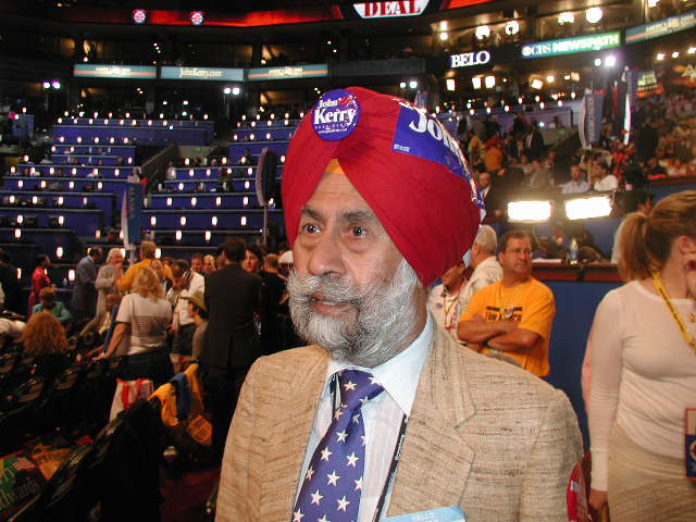 Lokvani Talks To Delegates On The DNC Floor