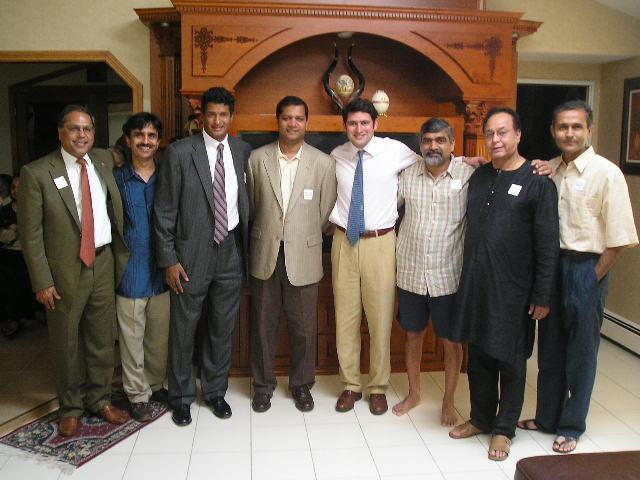 Republican Congressional  Candidate Raj Bhakta Addresses Bostonians