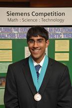 Arjun Ramamurthy Wins New England Region Siemens Competition