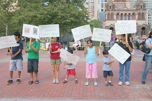 IAKF Rally In Boston Supporting Minority Rights Of Hindus To Worship In Kashmir Draws Large Audience