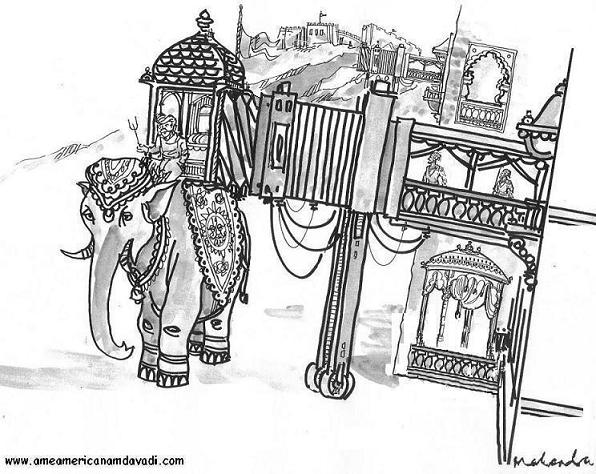 Cartoon: King And Elephant