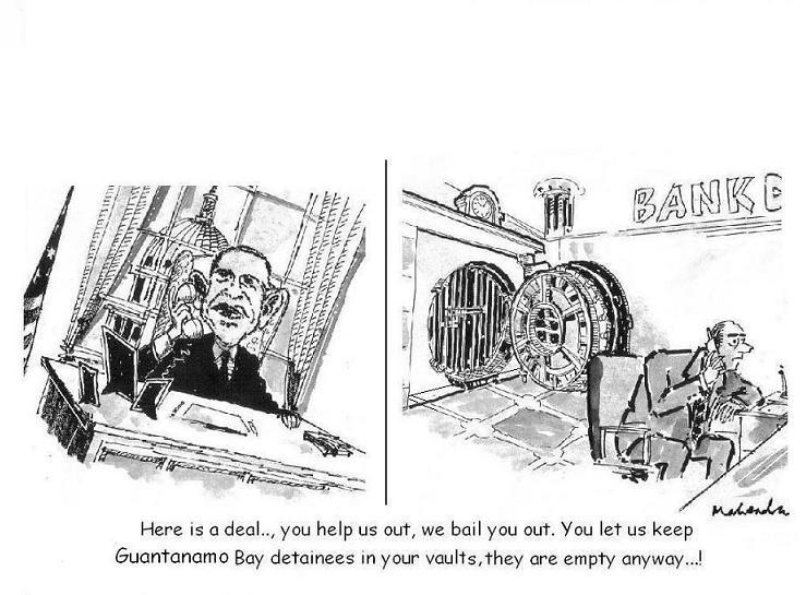 Cartoon: Guantanamo Bay Detainees