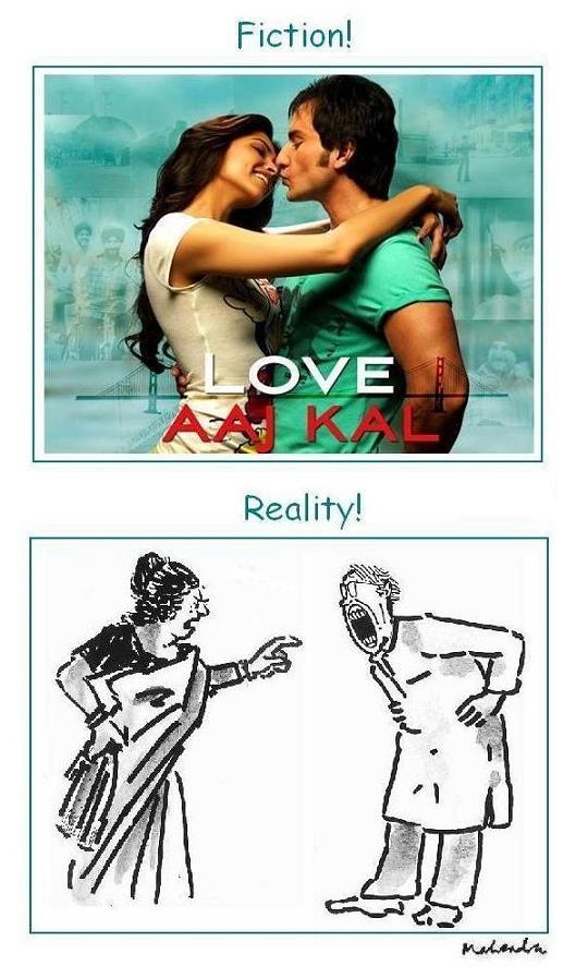 Cartoon - Love Aaj Kal