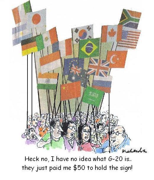Cartoon - G20 Summit