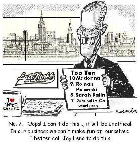 Cartoon - David Letterman Tonight Show