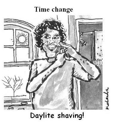 Cartoon - Daylite Shaving!