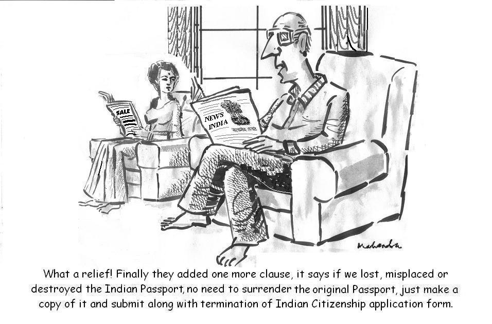 Cartoon: Passport Original Or Copy