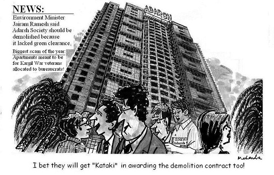 Cartoon: Adarsh Society Demolition