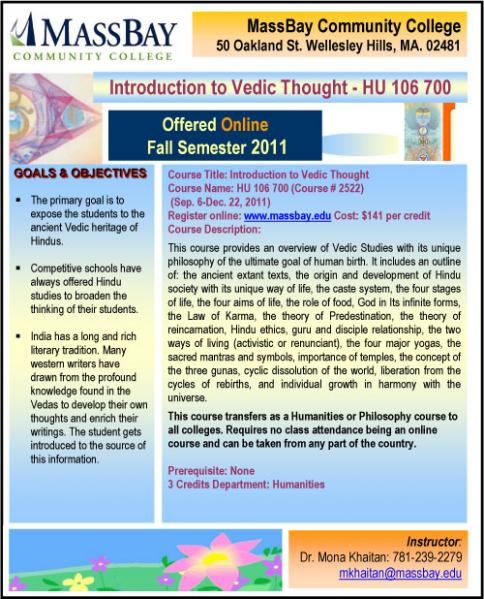 Introduction To Vedic Thought