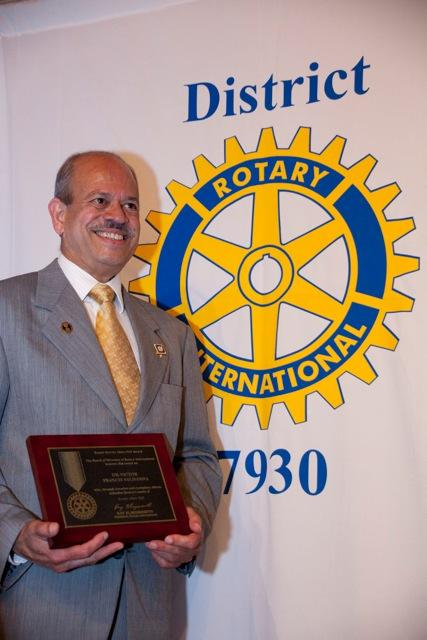 Dr. Victor Saldanha Receives Service Above Self Award From Rotary International