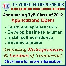 TiE Young Entrepreneurs (TyE): Recruting The 2012 Class