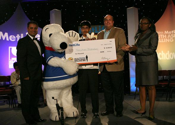 Narahari Bharadwaj Wins 2011 MetLife South Asian Spelling Bee