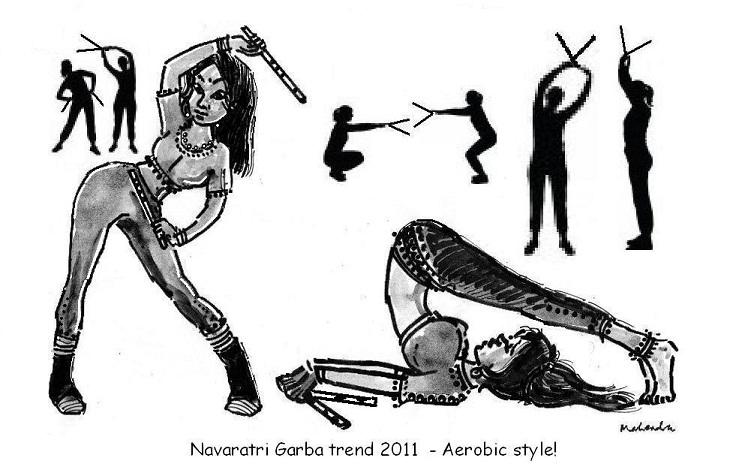 Cartoon: Navaratri Garba