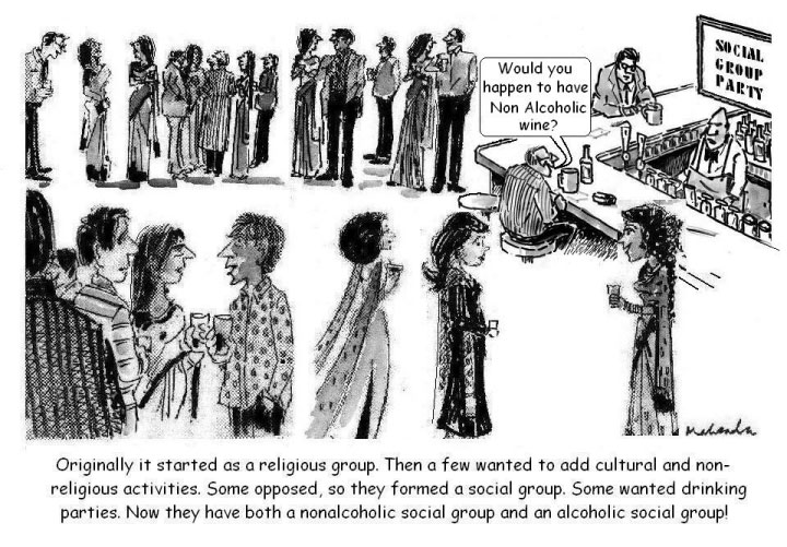 Cartoon: Social Group Party