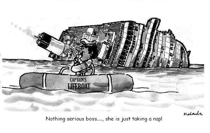 Cartoon: Sinking Ship