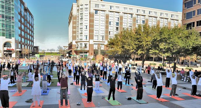New England Participated In National Health For Humanity Yogathon