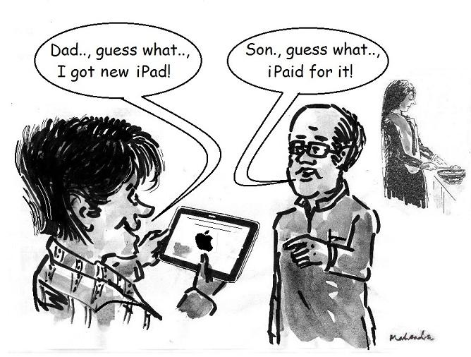 Cartoon: New IPad!