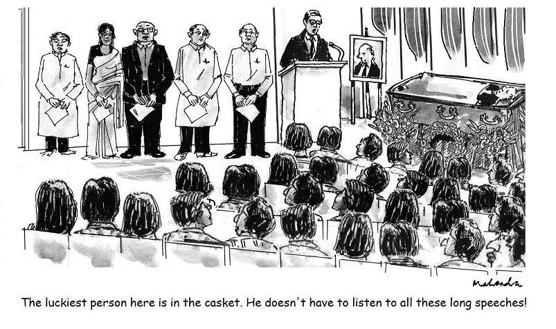 Cartoon: Funeral Speeches