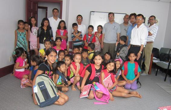 India Association Of NH Donates Backpacks To Bhutanese Refugees Community