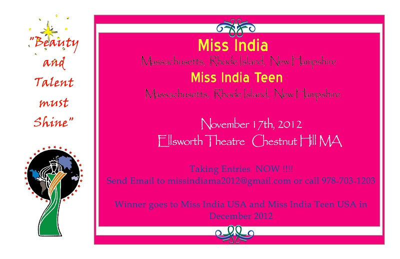 Miss India/India Teen Massachusetts, Rhode Island And New Hampshire 2012
