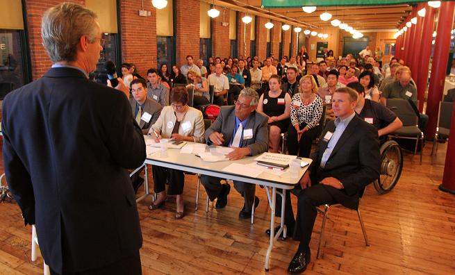 Entrepreneurs Pitch Their Innovative Education, Environment,  And Human Services Ideas