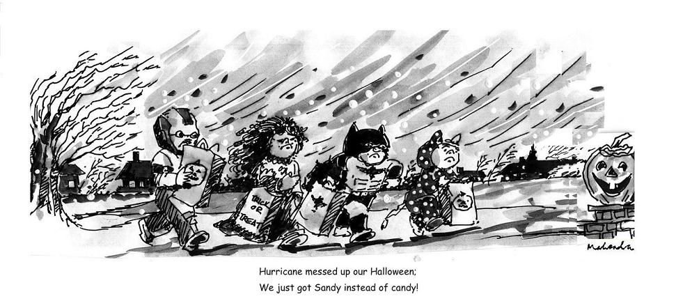 Cartoon: Halloween And Hurricane