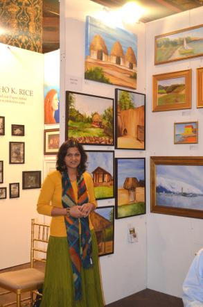 Java Joshi Art Exhibited At Internation Fair