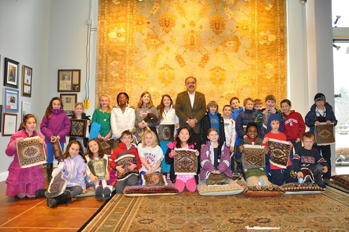 Local Schoolchildren Learn Cultural Lesson At Dover Rug & Home