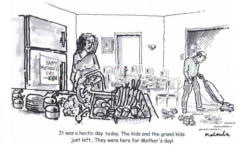 Cartoon: Mother's Day And Grand Children