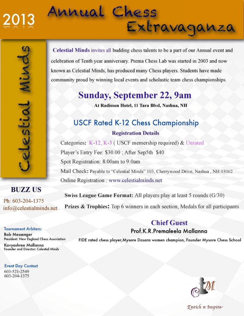 Celestial Minds 2013 Annual Chess Extravaganza