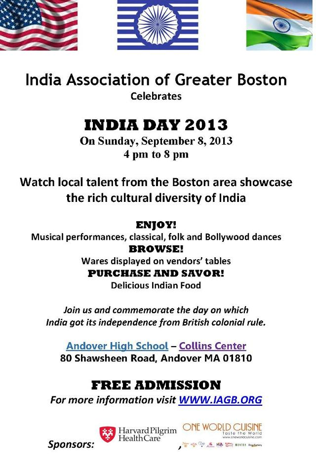 IAGB To Celebrate India Day