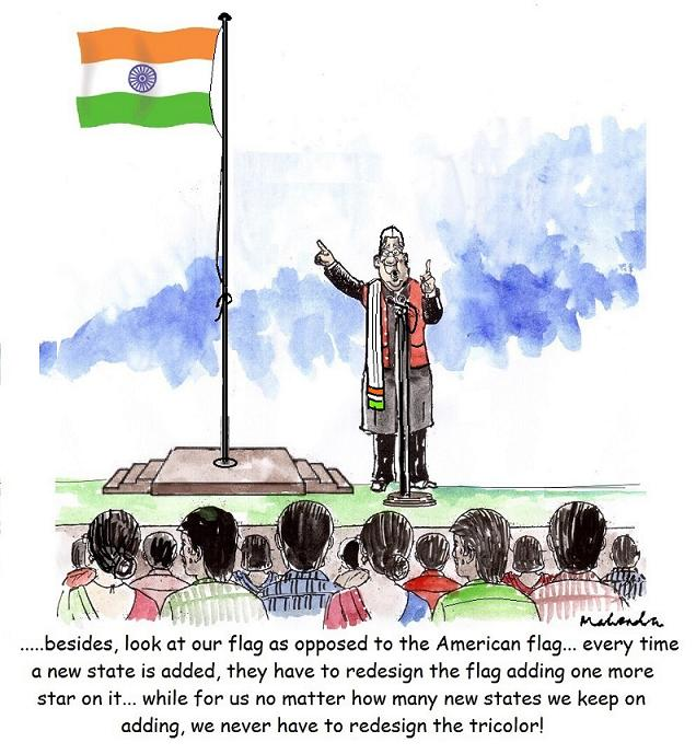 Cartoon: Flag Hoisting