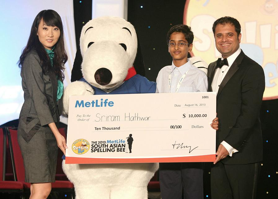 Sriram Hathwar Wins 2013 MetLife South Asian Spelling Bee