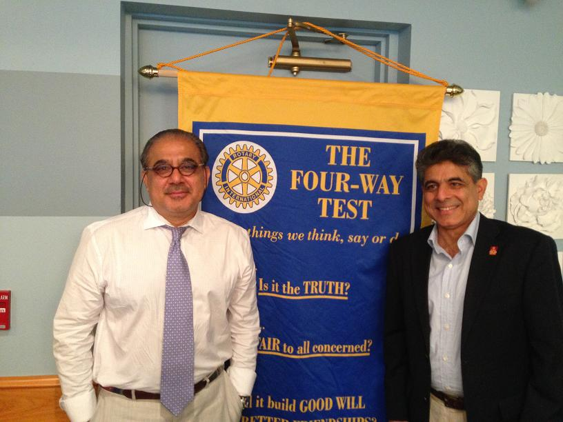 Dr. Hamid Jafri Speaks At The Rotary Club Of Natick