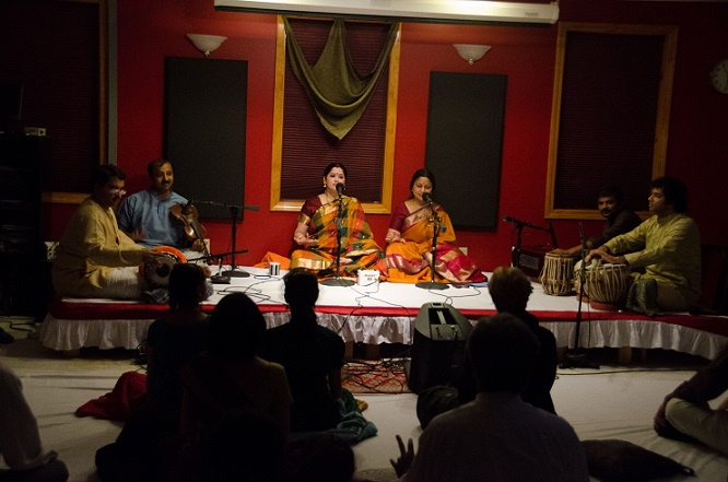 Delightful Music Jugalbandi By Local Artists Aparna Balaji And Shuchita Rao