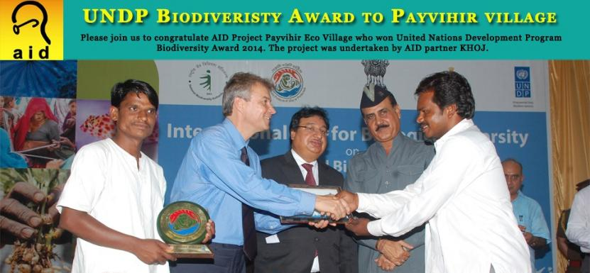 AID Supported Project, Payvihir Eco Village Wins UNDP Biodiversity Award, 2014