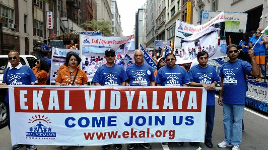 Ekal Makes Big Splash At NYC India Day Parade