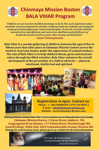 Chinmaya Mission Boston Bala Vihar Program