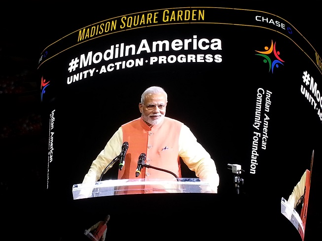 Indian Prime Minister Narendra Modi Speaks To Record-Breaking Crowd At  Madison Square Garden