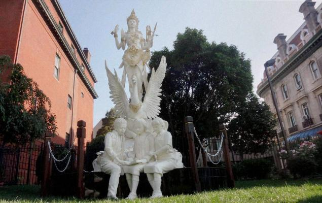 Hindus Welcome Goddess Saraswati Statue Near White House Erected By Indonesia