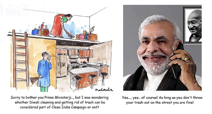 Cartoon: Clean India