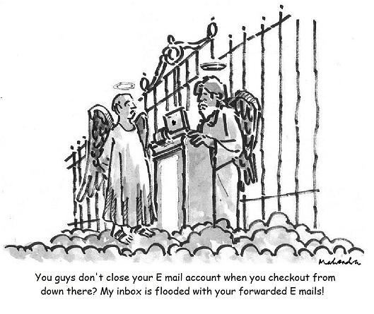 Cartoon: Forwarded E Mails