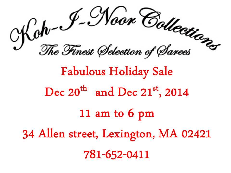 Koh-I-Noor Collections' Fabulous Holiday Sale