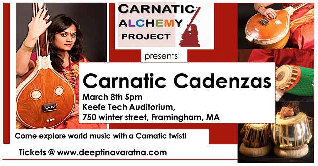 Carnatic Cadenzas – A Concert Of Carnatic-Inspired Music