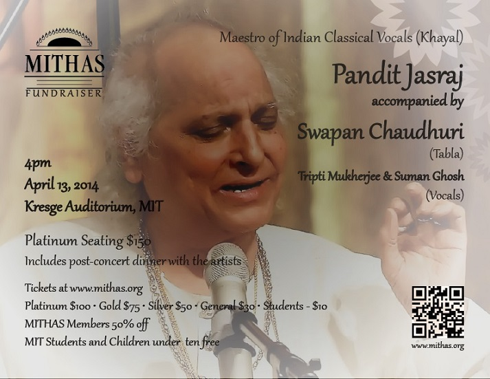 MITHAS Fund Raiser Event - A North Indian Classical Khayal Concert By Pandit Jasraj