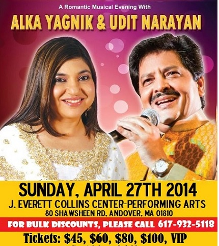 A Romantic Musical Evening With Alka Yagnik & Udit Narayan