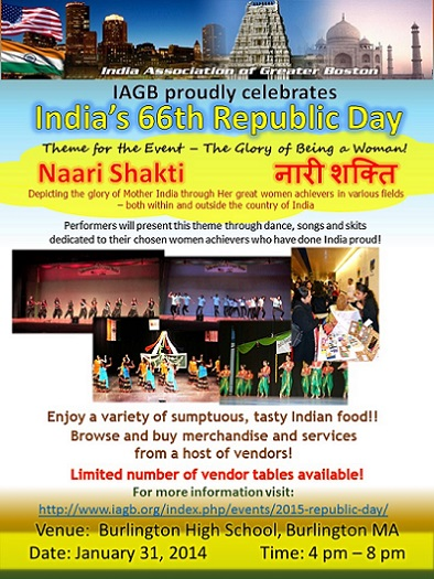 IAGB To Host Republic Day 2015