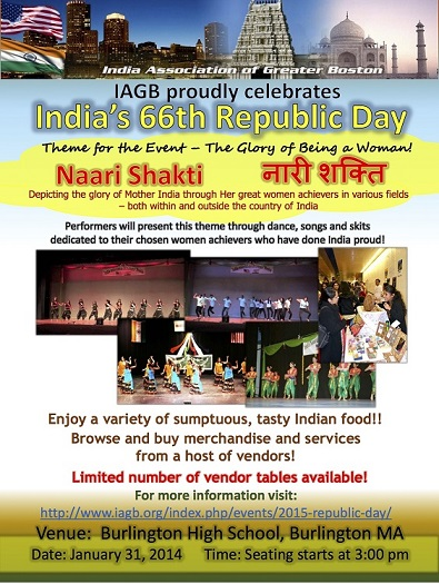 IAGB To Celebrate Republic Day 2015