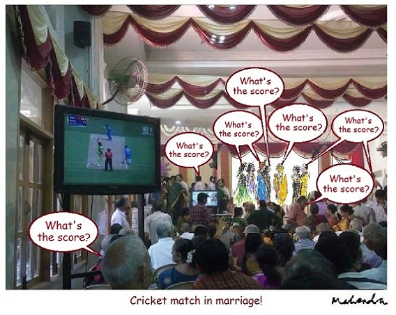 Cartoon: Cricket Match In Marriage